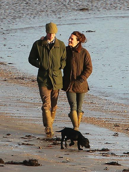 Days after the Duchess of Cambridge turned 30, she was spotted arm-in-arm with her Duke and puppy Lupo walking along a North Wales beach. January 2012