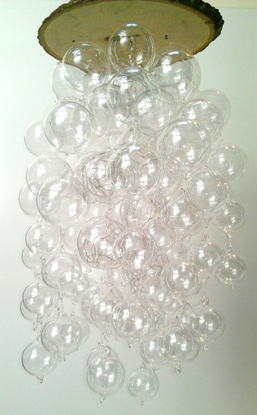 28 best chandy images on pinterest light fixtures bubble custom led hand blown glass bubble chandelier by hammersheels mozeypictures Image collections