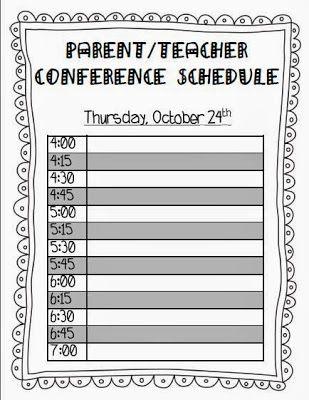 The 10 best images about Parent\/Teacher Conferences on Pinterest - parent teacher conference form