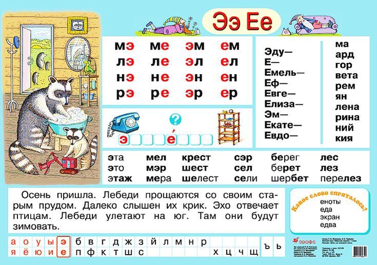 Гласные Э, Е – наглядное пособие – Дрофа-Вентана