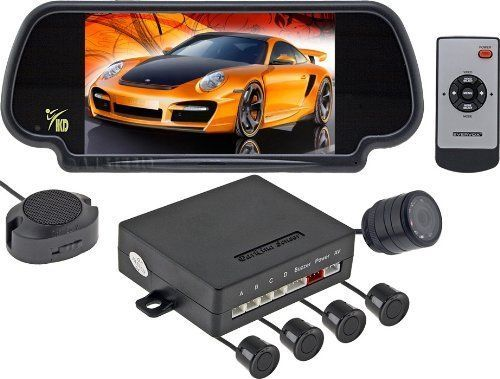 Rearview Backup Camera System Rear View Mirror with Built-in Display, Color and #NotApplicable