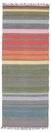 Rainbow Stripe - Grijs tapijt 80x200    52x2