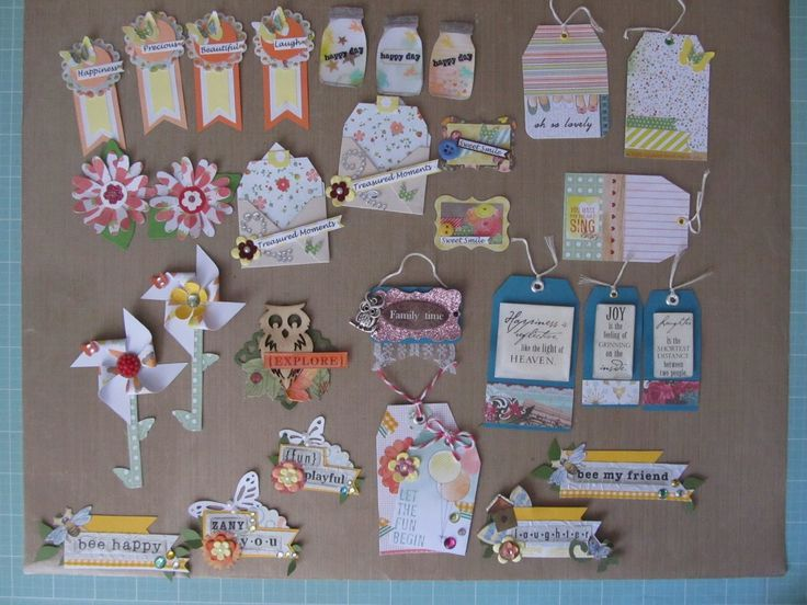 Lovely Card Making Embellishment Ideas Part - 7: Some Scrapbook Embellishments Made From Scraps