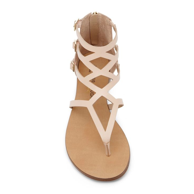cutout- strappy nude sandals