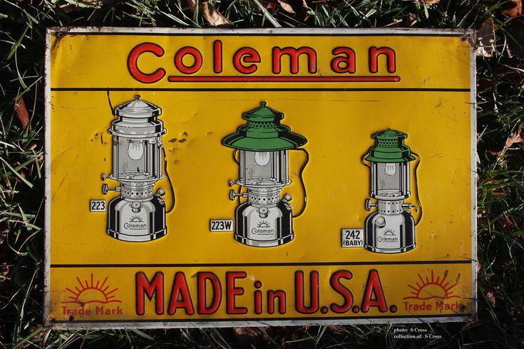 Metal Coleman Sign