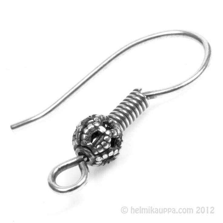 Trinity Brass, korvakorukoukku filigree-pallolla [french hook with filigree ball], antiikkihopeoitu