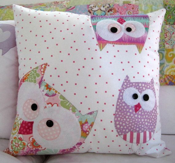 A Family of Owls in Pink by claireturpindesign on Etsy, $70.00