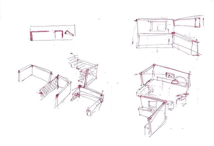 Kenan Yumuşakkaya Apartmanı - early sketch