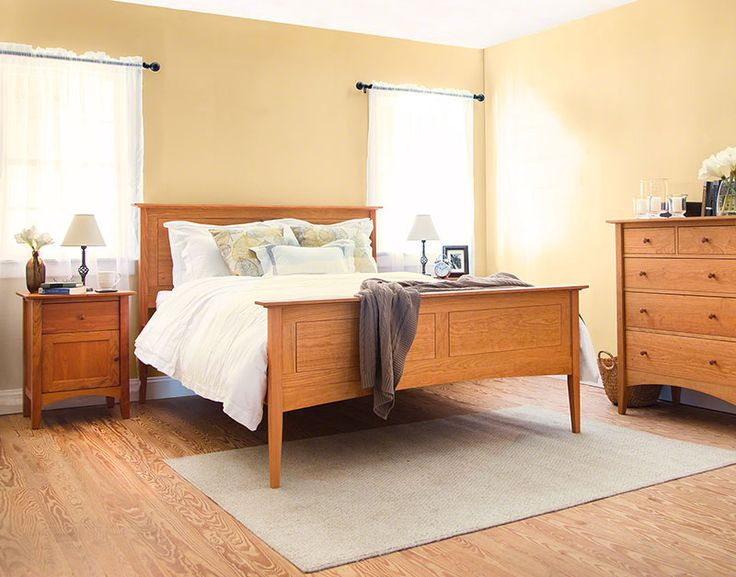 Our American Shaker Panel Bed Features Sleek Panels In The Headboard And Footboard That Add A