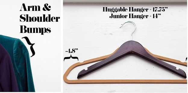 Or if typical ones are too big, try petite hangers. | 22 Borderline Genius Ways To Make Your Clothes Last Longer