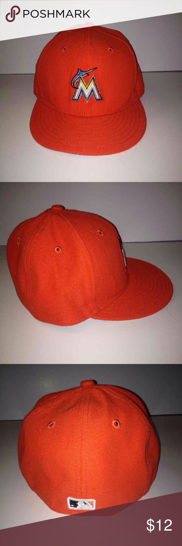 Miami Marlins Fitted Hat Like New Marlins New Era hat. Fitted size 6 5/8. In amazing condition. New Era Accessories Hats