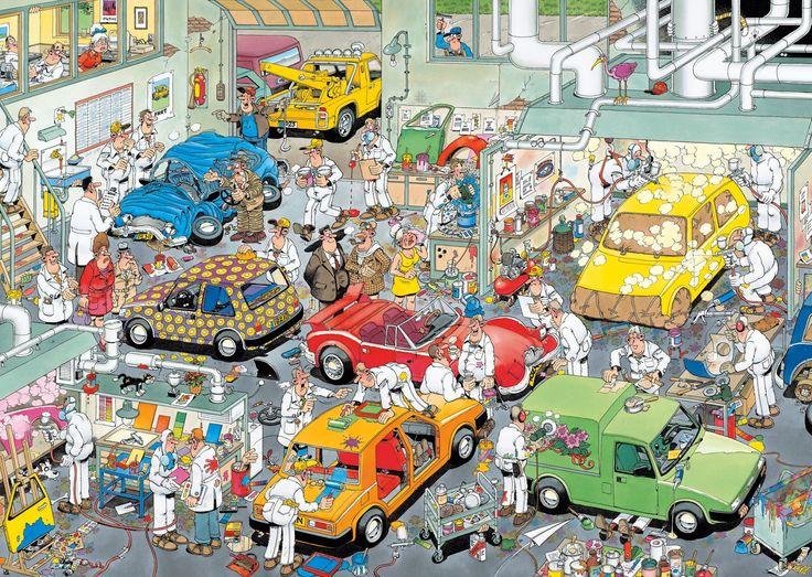 Garage - puzzel Jan van Haasteren