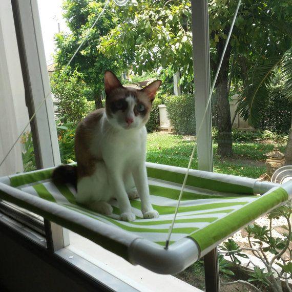 """Fenster Katze möglich, Katze möglich, Cat Cot, Katze Hängematte, Katze-Möbel, Cat Barsch, Fenster Barsch, moderne Katze möglich, tragbare Katze möglich, 15"""" von 22,5"""""""