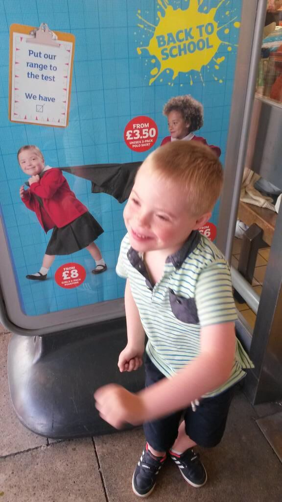Jack from HDSSG sees Natty in the Sainsbury's school uniform campaign! @leanned1979