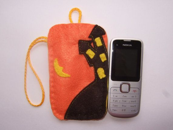 Mobile Phone Cover Case Set Halloween Felt by SomethingNice4You