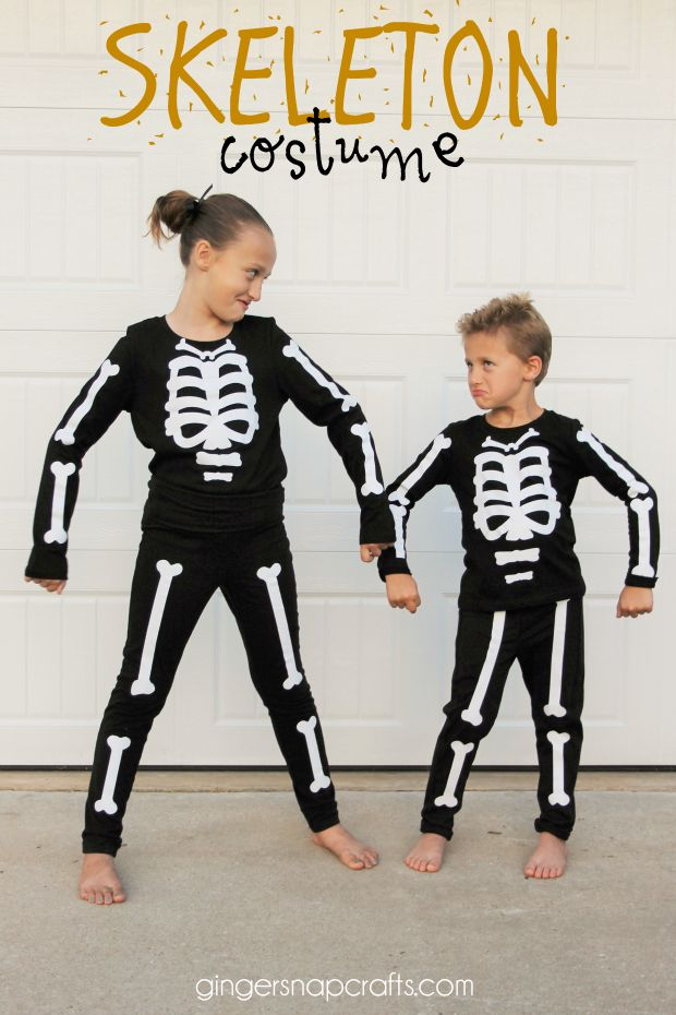 Ginger Snap Crafts: Skeleton Costume {tutorial}