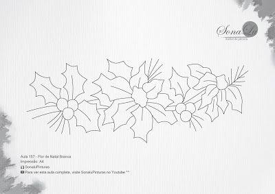 Sonalu Pinturas: Aula 157 - Flor de Natal Branca