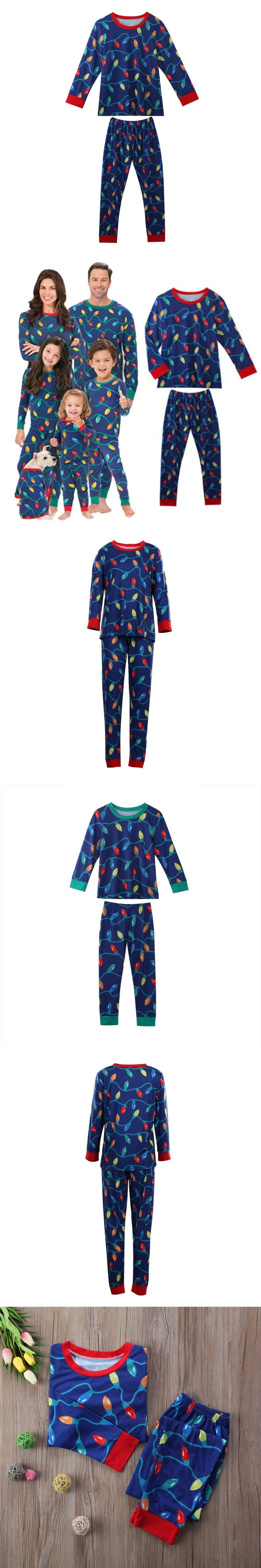 Sleepytime Family Matching Christmas Pajamas Set Women Baby Deer Sleepwear Nightwear Fashion Dad Kids Mom New Year Family Sets