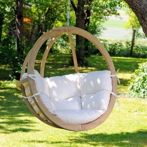 Hanging hammock chair.