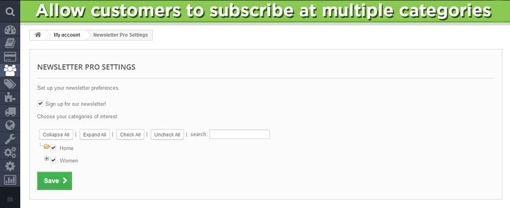 Allow customers to subscribe at multiple categories.