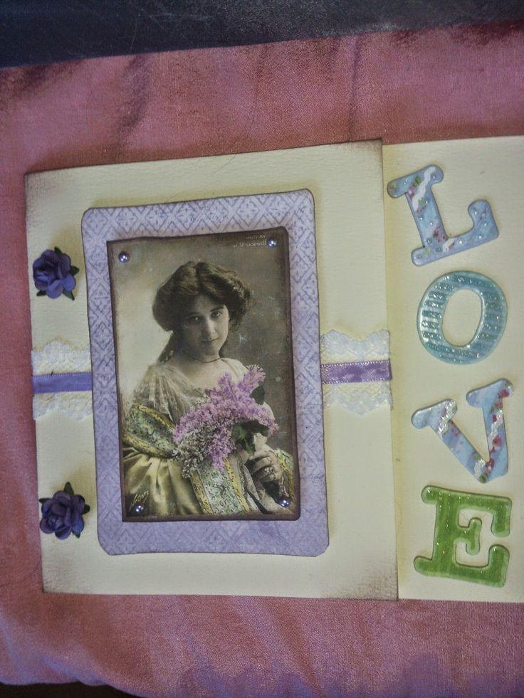 Hobby ;) My Latest Card :) Vintage Love