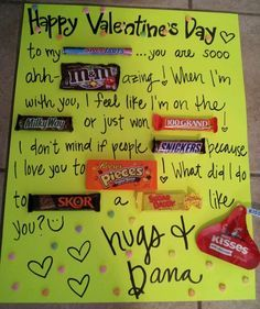 candy letters for boyfriend - Google Search