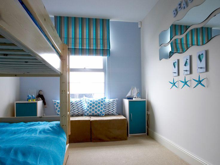 Beach interior | Seaside interior | Seaside bedroom | Bedroom interior | Bedroom ideas | Blue bedroom | Blue bedroom details