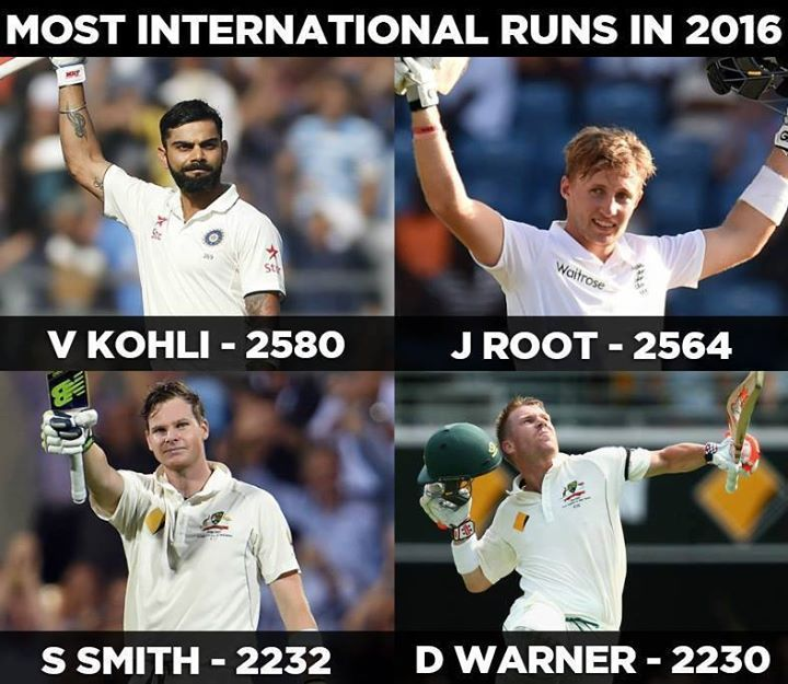 Virat Kohli Joe Root Steve Smith David Warner Fab 4 of International Cricket They Said Well Said! - http://ift.tt/1ZZ3e4d