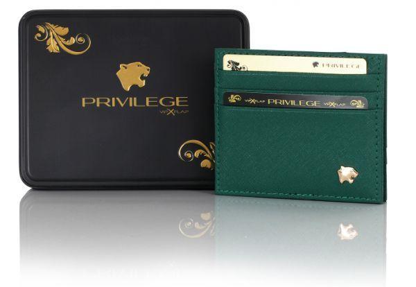 Vip Flap Portafoglio Porta Carte Linea Privilege Collection Saffiano 7 colori