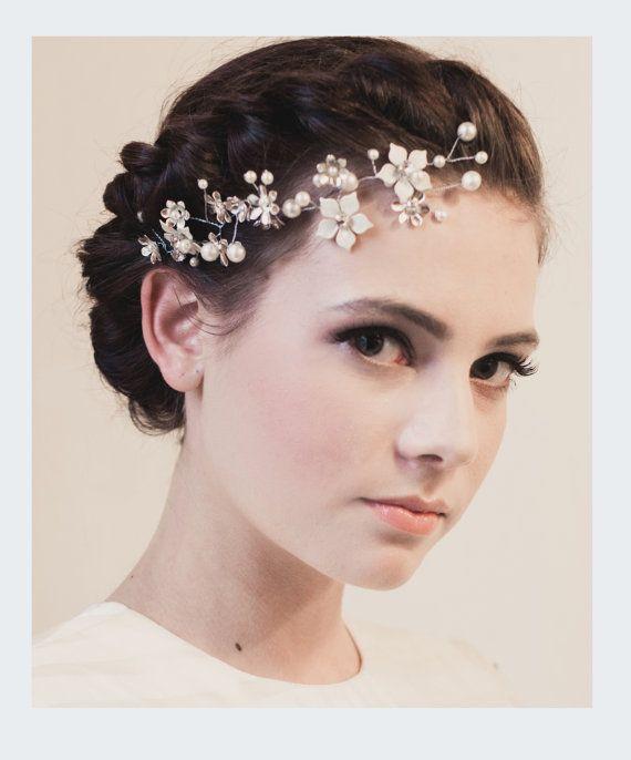 Bridal Hand Painted Enamel Flower Crystal by KlaireVanEltonBridal, £90.00