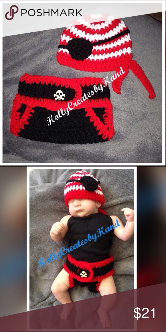 I just added this listing on Poshmark: Baby Pirate Costume, Crochet Photo Prop. #shopmycloset #poshmark #fashion #shopping #style #forsale #handmade #Other