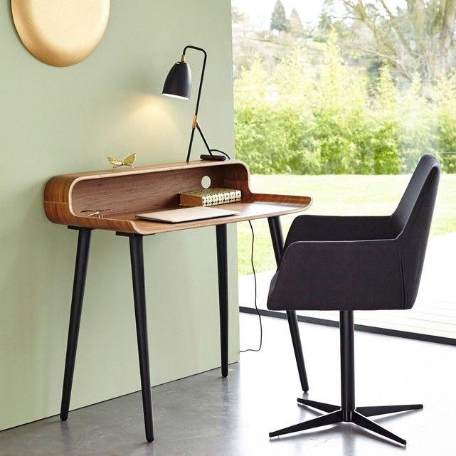 La Redoute VERNAN Walnut Veneer Desk AM.PM. 355 quid  L 90 x D 50 x H 90 cm. Work surface height: 73 cm.