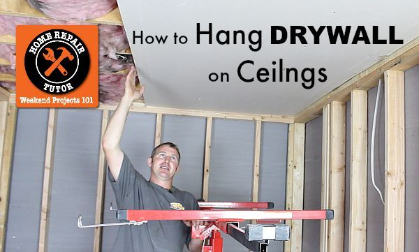 Wanna learn how to hang drywall on ceilings without breaking your back? If the answer's Yes you'll love our video tutorial by Steve White at SRW Contracting