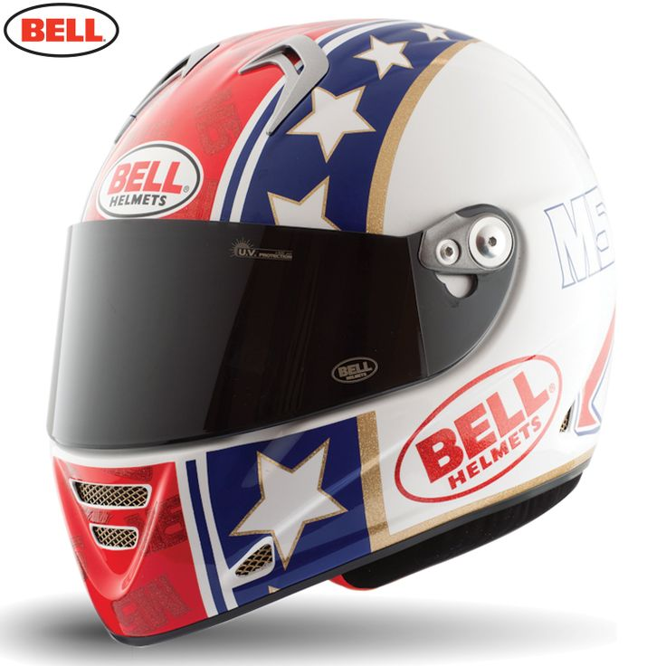 Bell M5x Motorcycle Helmet - Star Red Blue Gold - 2014 Bell Road Helmets - 2014 Bell Motocross Helmets - 2014 Motocross Gear