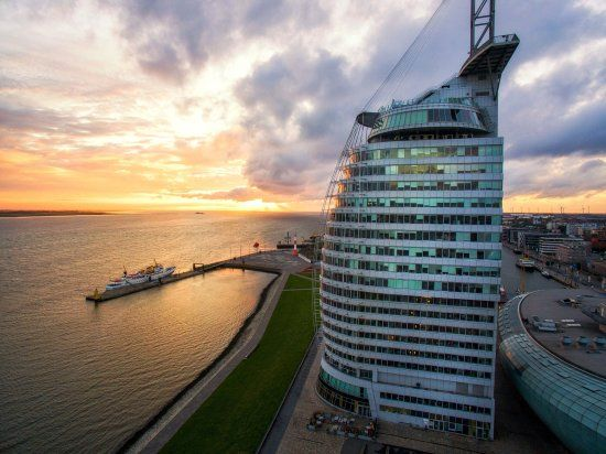 Atlantic Hotel Sail City, Bremerhaven Picture: ATLANTIC Hotel SAIL City im Sonnenuntergang - Check out TripAdvisor members' 1,668 candid photos and videos of Atlantic Hotel Sail City