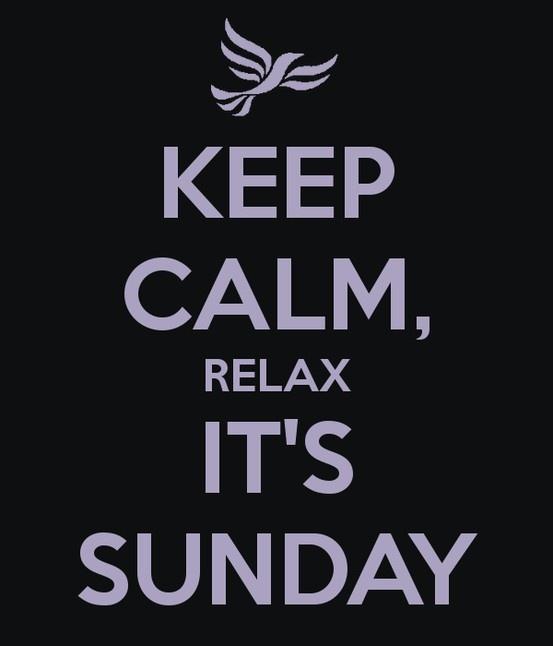Domingo... dormir, descansar, amigos, viajar, leer, bloguear, postear pero sobre todo... RELAX!! FELIZ DÍA!!!
