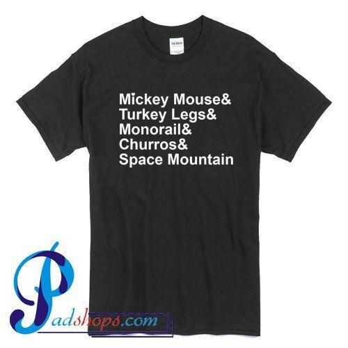 Mickey Mouse Turkey Legs Monorail T Shirt