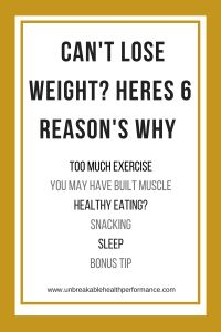 Cant Lose Weight - Heres 6 Reasons Why || Online Training & Nutrition. Strength Training || Unbreakable Health & Performance || www.unbreakablehealthperformance.com