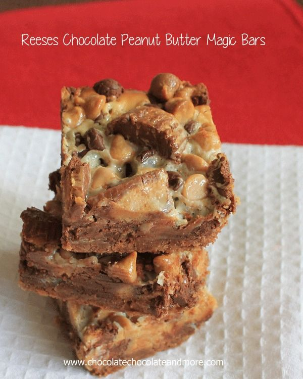Peanut Butter and Chocolate-Reese's Chocolate Peanut Butter Magic Bars!