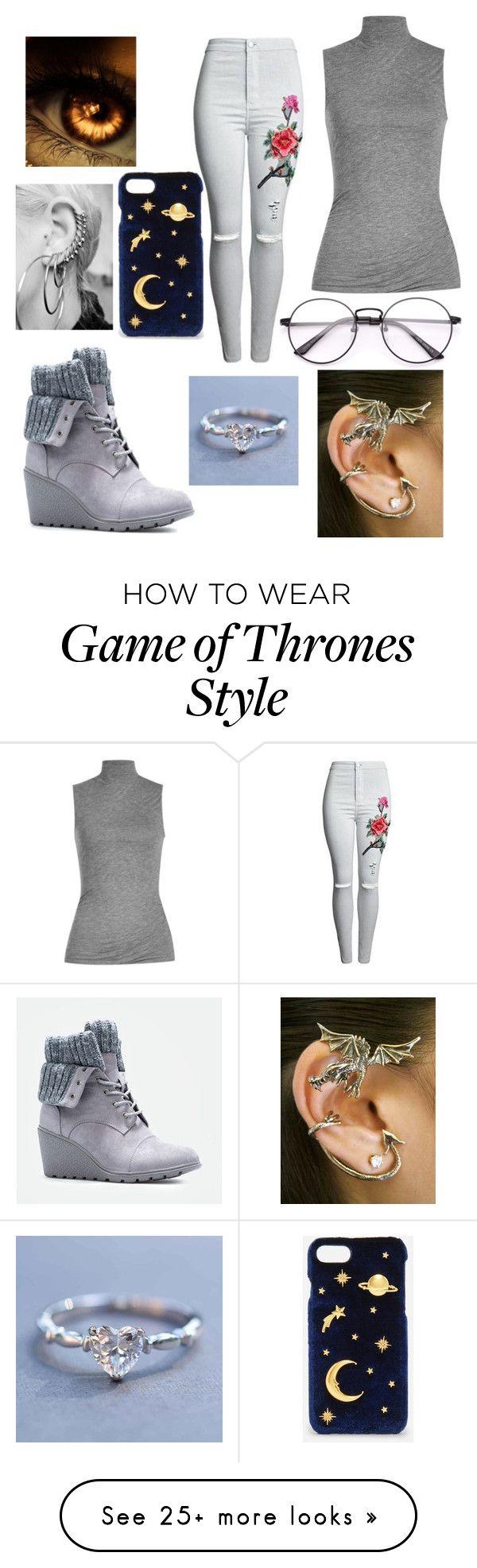 """""""Reimagining"""" by the-wayward-huntress on Polyvore featuring Velvet, JustFab and CHARLES & KEITH"""