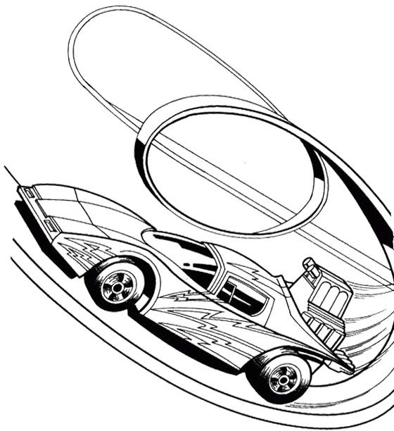 Hot Wheels Track Turn Coloring Page Kids Coloring Pages