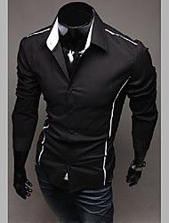 Men's Stand Collar Slim Long Sleeve Shirt – AUD $ 37.74