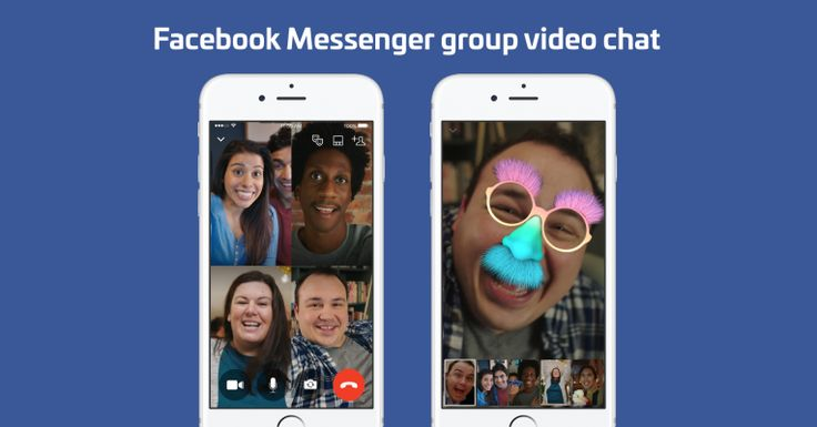 Facebook Messenger launches 6-screen group video chat with selfie masks
