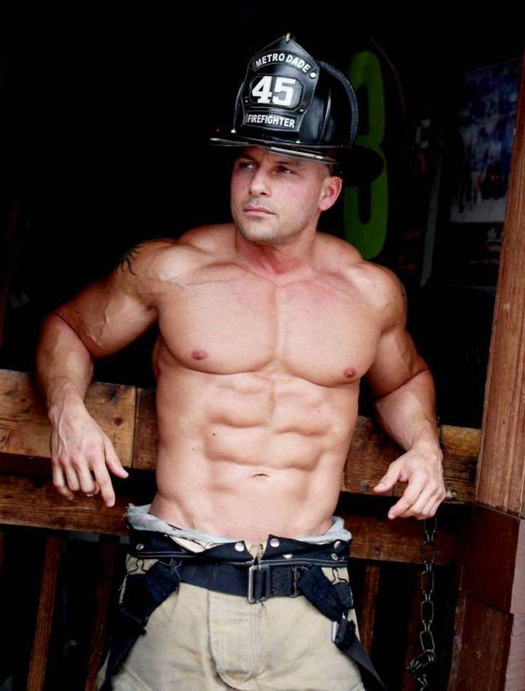 fireman lends his hose to kinky redhead bottom