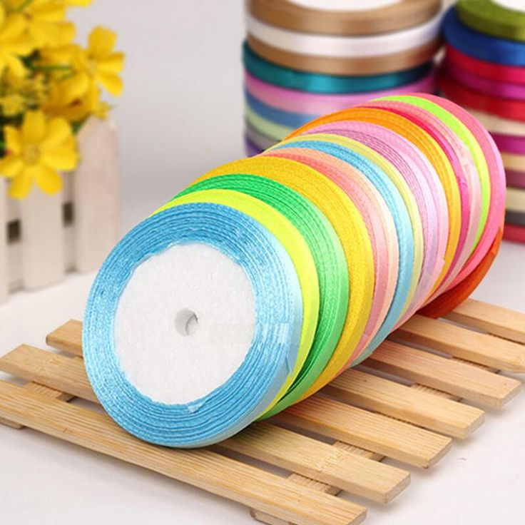 """1/4"""" 6mm Wide Wedding Craft Satin Ribbon (22M) DIY Gift Packaging Wedding Decorations Accessory Christmas Ribbon Party Supplies #DIYChristmasGifts"""