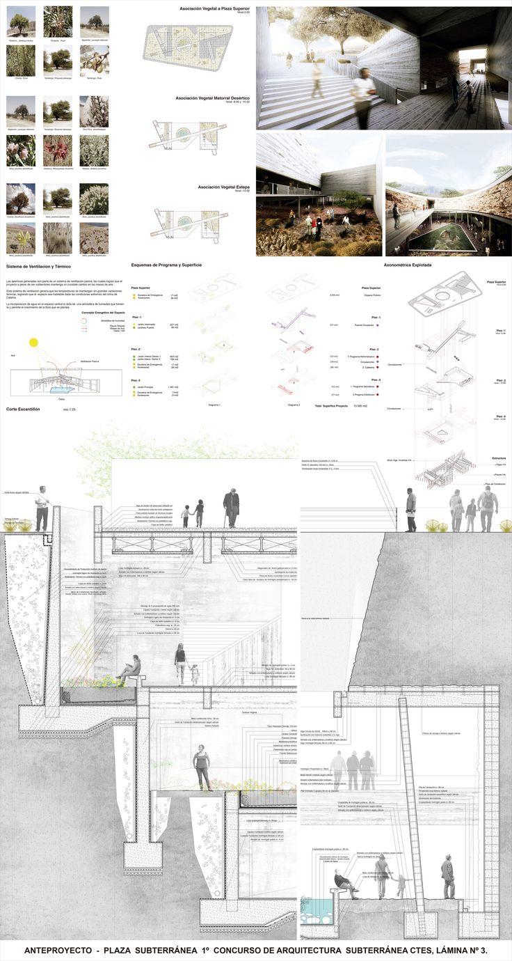 Jardín Botánico de Calama, Primer Lugar en Concurso de Arquitectura Subterránea CTES 2014 / Chile,Lámina #03. Image Cortesia de Leonardo Quinteros y Luis Pérez Huenupi