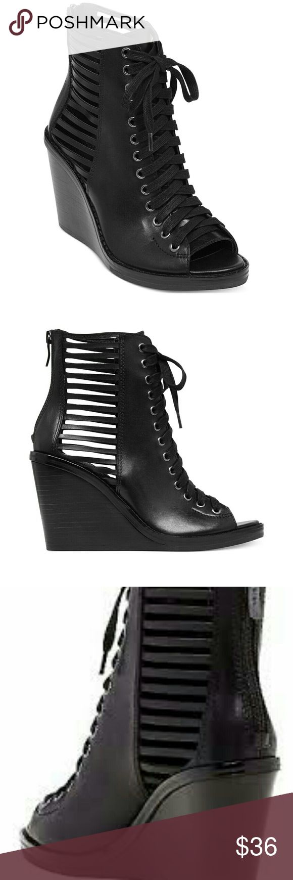 Bcbg lace up wedge booties Malbon bcbg lace up wedge booties BCBG Shoes Wedges