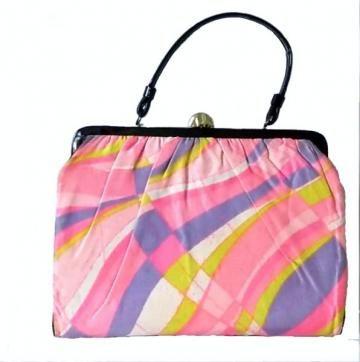 #1960sMod #Vintage Handbag 60s Purse Funky Pattern in Pastels by #Hoopties for $18.00