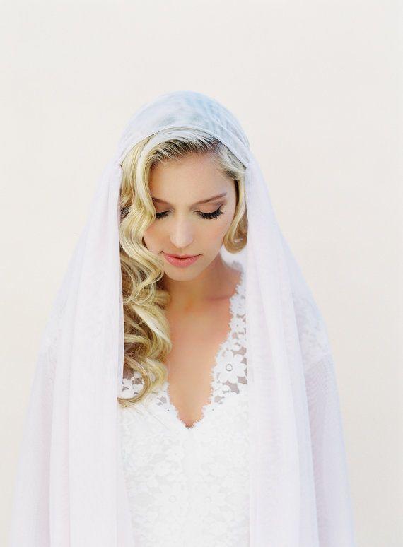 Juliet Bridal Cap Wedding Veil, a romantic blush veil always wins!