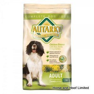 Autarky Chicken Adult Dog Food 15kg Autarky with Chicken Adult Dog Food has been formulated with a wide range of wholesome beneficial ingredients that have been specially selected to provide a complete diet.